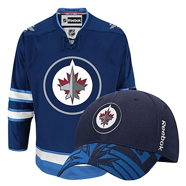 Winnipeg Jets Men's Home Jersey & Draft Cap Bundle, X Large