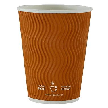 Double Wall Ripple Cup, 10oz/300ml, Brown