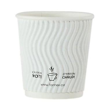 Gobelet ondulé à double paroi, 4 oz/118 ml, blanc
