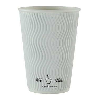 Double Wall Ripple Cup, 16oz/473ml, White