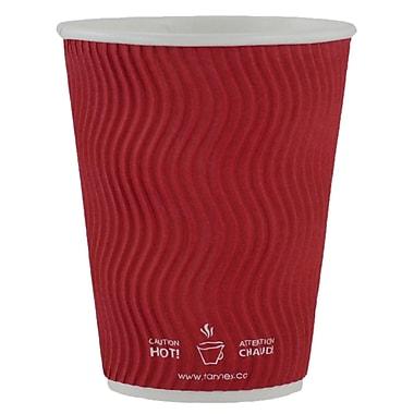 Gobelet ondulé à double paroi, 10 oz/300 ml, rouge