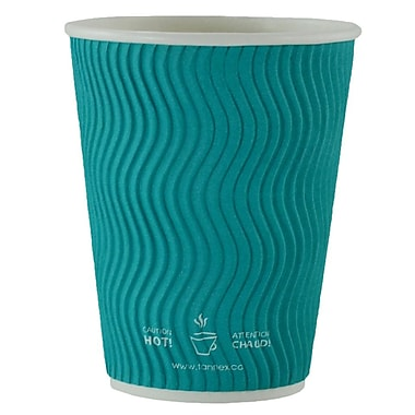 Double Wall Ripple Cup, 12oz/360ml, Teal