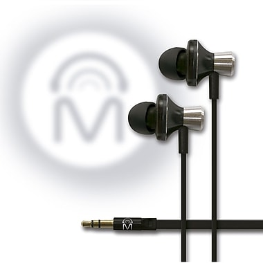 Mental Beats Metal Audio In-Ear Earbuds Black