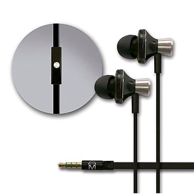 Mental Beats – Écouteurs bouton Metal Audio avec microphone