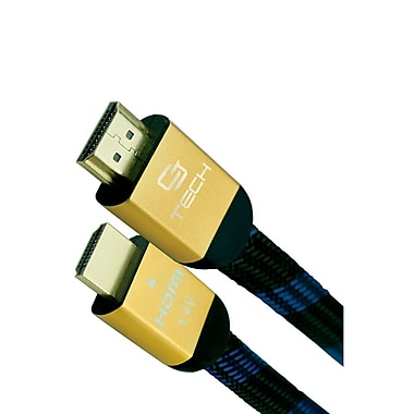 CJ Tech 3' Threaded HDMI Cable with Ethernet
