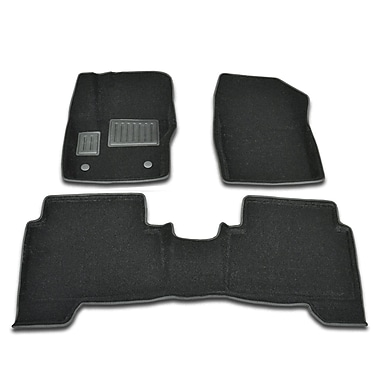 Findway 3D Floor Mats (2208BB) for 2013-2015 Ford Escape/C-MAX, Black, English