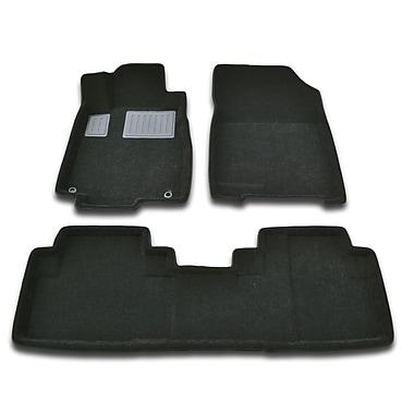 Findway 3D Floor Mats (26180BB) for 2012-2015 Honda CR-V Touring/EX-L, Black, English