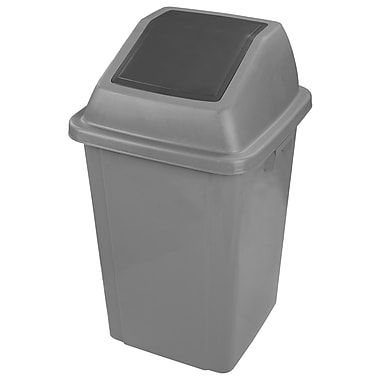 Duraplus Waste Receptacle Container with Lid, 100-Litre, Grey