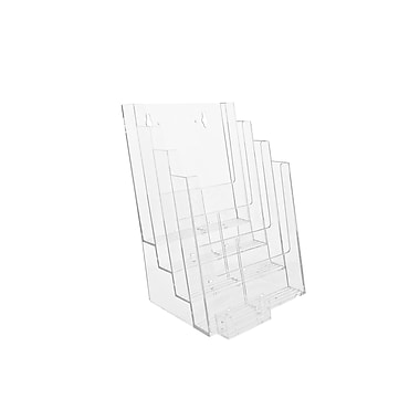 Acrylic Brochure Holders, 4 Tier Full Page Countertop with Business Card and Accesssory Kits