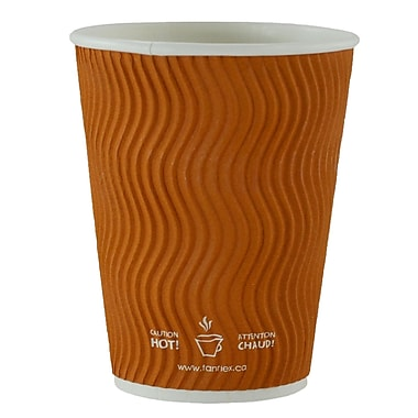 Double Wall Ripple Cup, 12oz/360ml, Brown