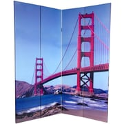 Oriental Furniture 72'' x 48'' Double Sided Bridges 4 Panel Room Divider