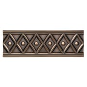 Daltile Metal Ages 12'' x 4'' Corbel Glazed Decorative Accent in Polished Bronze