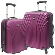 Traveler's Choice 2 Piece Hardsided Expandable Luggage Set; Lavender