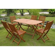 International Caravan Royal Tahiti Galende 7 Piece Dining Set