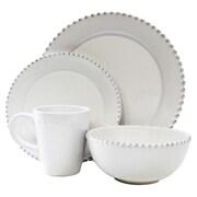 American Atelier Bianca Bead Round 16 Piece Dinnerware Set; White