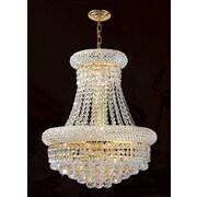 Worldwide Lighting Empire 8 Light Chandelier; Gold