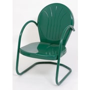 Atlantic Outdoor Metal Tulip Dining Arm Chair; Hunter Green