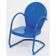 Atlantic Outdoor Metal Tulip Dining Arm Chair; Blue