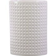 Urban Trends Ceramic Oval Vase LG Dimpled Gloss White; 11.25'' H x 4.5'' W x 7.75'' D