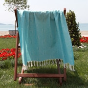Linum Home Textiles Butterfly Cotton Pestemal Bath Towel; Turquoise