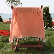 Linum Home Textiles Butterfly Cotton Pestemal Bath Towel; Melon orange