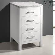 Virtu Caroline Parkway Free Standing 20'' W x 33.5'' H Cabinet; White