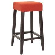 Safavieh Harley 30'' Bar Stool with Cushion; Orange