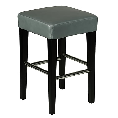 Cortesi Home 24'' Bar Stool with Cushion; Grey