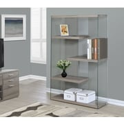 Monarch Specialties Inc. Reclaimed-Look / Tempered Glass 60'' Accent Shelves