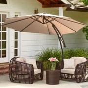 Home Loft Concepts 9.8' Sargent Cantilever Outdoor Canopy Umbrella; Tan