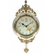 Three Star Wall Clock; Ivory / Gold