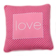 One Grace Place Simplicity Love Decorative Cotton Throw Pillow; Hot Pink