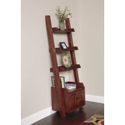 American Furniture Classics Door 75.5'' Leaning Bookcase