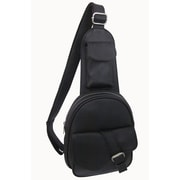 AmeriLeather Edwin Mini One Strap Messenger Bag; Black