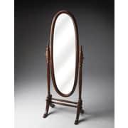Butler Plantation Cheval Floor Mirror; Antique Brass