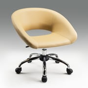 Creative Images International Mid-Back Office Chair; Tan