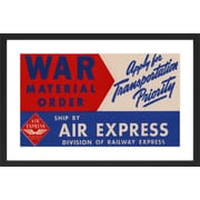 Marmont Hill Air Express Licensed Smithsonian Framed Painting Print; 24'' H x 36'' W