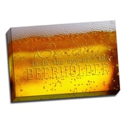 Picture it on Canvas Grapes and Grains Beauty of Beerholder Photographic Print on Wrapped Canvas