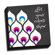 Picture it on Canvas Wood Art Let Your Colors Show Quote Graphic Art on Wrapped Canvas