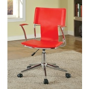 Hokku Designs Monikka High-Back Office Chair with Casters; Red