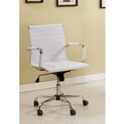 Hokku Designs Dorynn High-Back Office Chair with Casters; White