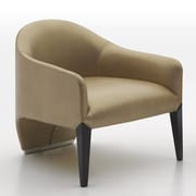 Argo Furniture Murcia Dinella Lounge Chair; Leather Champagne