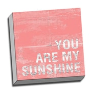 Picture it on Canvas Wood Art You Are My Sunshine Quote Textual Art on Wrapped Canvas