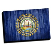 New Hampshire Distressed Colorful National Patriotic Flag Graphic Art on Wrapped Canvas