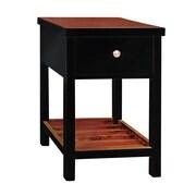Antique Revival Pari End Table; Black
