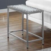 Monarch Specialties Inc. End Table; Grey / Silver