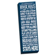 Picture it on Canvas In This House Grandparents House Rules Quote Textual Art on Wrapped Canvas