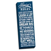 Picture it on Canvas In This House House Rules Quote Textual Art on Wrapped Canvas