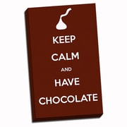 Picture it on Canvas Keep Calm Have Chocolate Textual Art on Wrapped Canvas