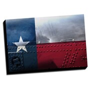 Picture it on Canvas Texas Distressed Colorful National Patriotic Flag Wall Art on Wrapped Canvas